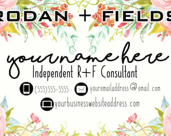 Floral Watercolor Rodan and Fields Customized Business Card