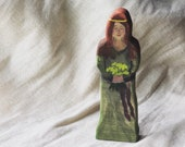 Wooden Wise Healer Woman Figure Toy, Handpainted, Storytelling, nature table, small world play, library classic stories, waldorf, montessori