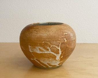 small earth toned ceramic vase  handmade pottery vase
