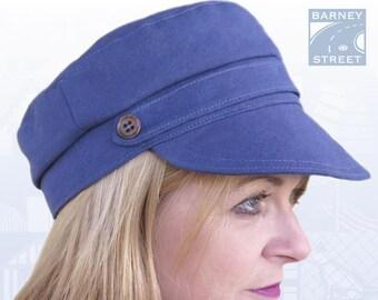 Fisherman cap fiddler cap blue cotton canvas peaked summer cap 3b8a9bc71840