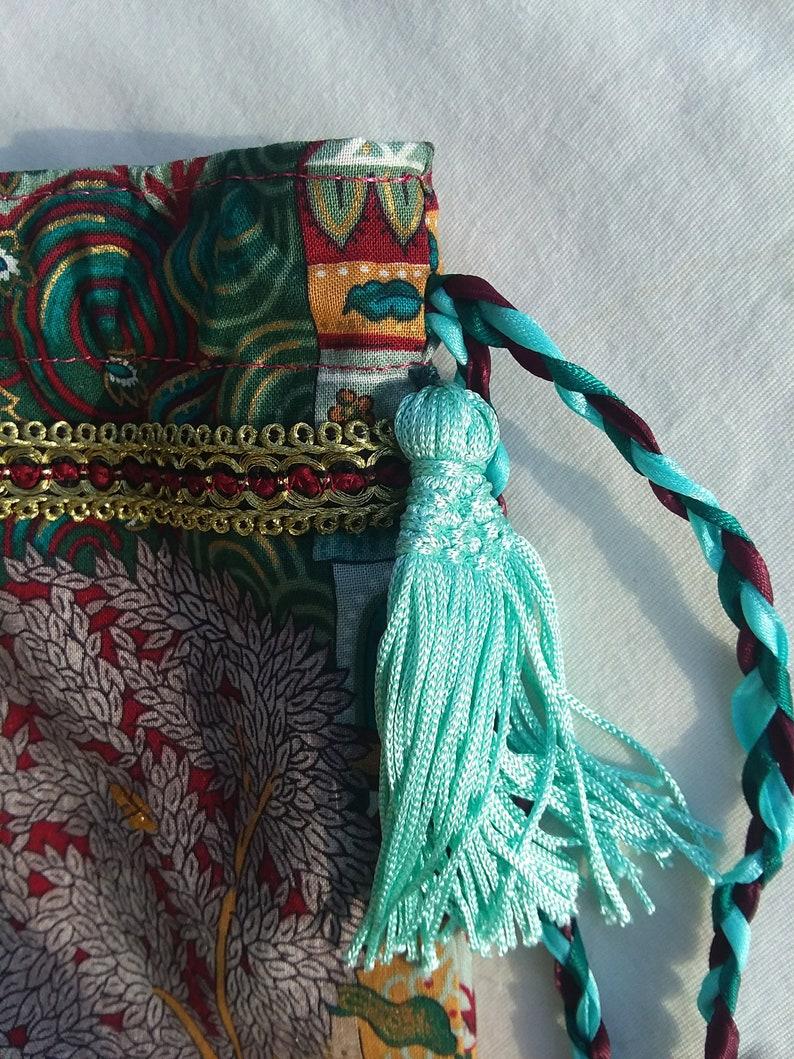 handmade Magic tree tarot Oracle card bag