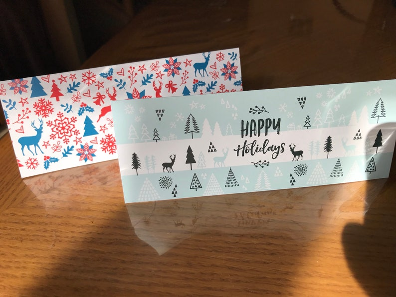Happy Holidays Candy Bag Toppers Favor Bags Toppers Treat Bag Toppers Printed and Shipped Candy Bag Labels