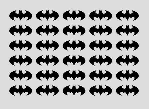 30 batman stickers batman party sticker batman envelope