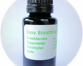 Easy Breathing essential oil Aromatherapy blend respiratory relief Organic Natural Diffuse diffuser inhale from bottle