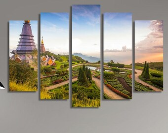 LARGE XL Canvas Print Doi Inthanon Northern Thailand Chiang Mai At Daytime Canvas Wall Art Print Home Decoration - Stretched