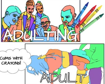 Xxx Coloring Book Etsy