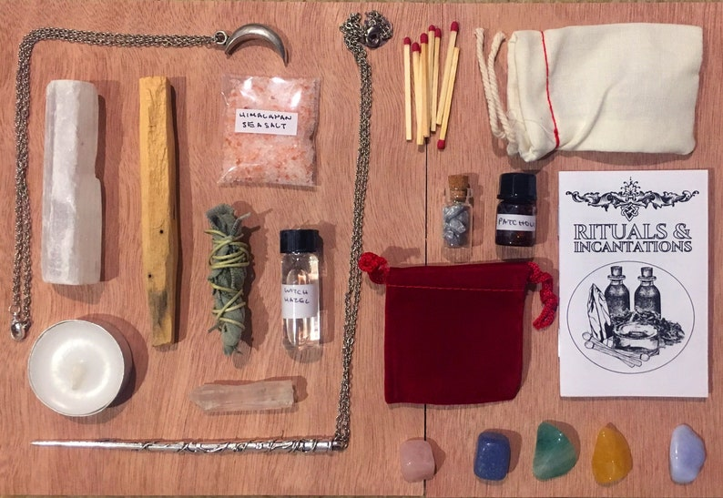 witch kit  altar kit  witchcraft kit  crystal witchcraft  image 0