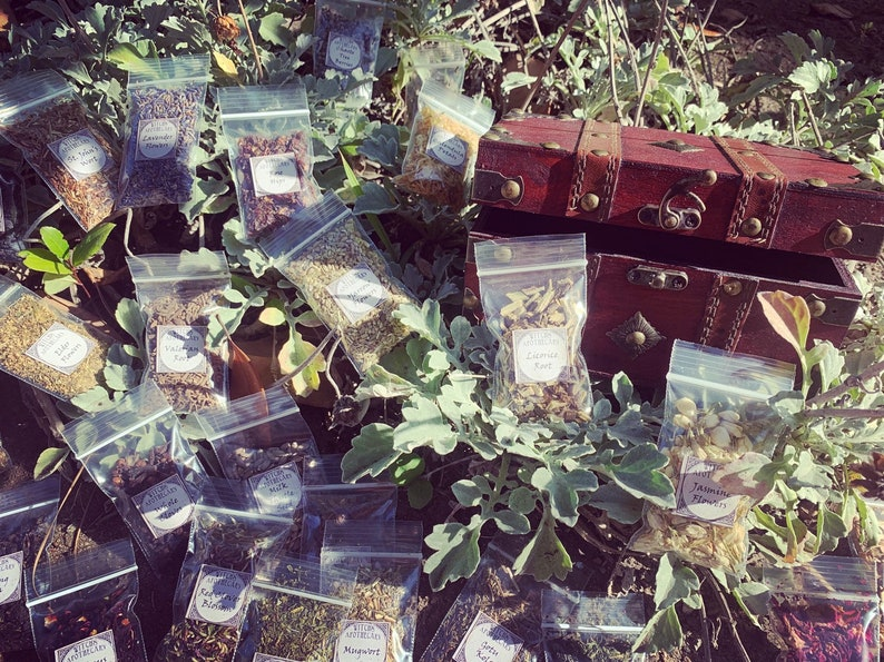 Witchcraft Apothecary Kit  Wiccan Altar Supplies  Potion image 0