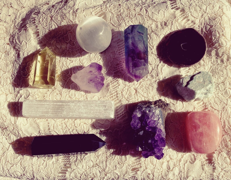 Crystal Witchcraft Kit  Natural Crystal Collection  Rough image 0