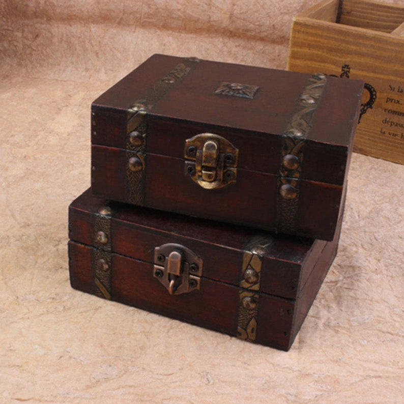 Magic chest wooden box witchcraft kit chest wooden red box image 0