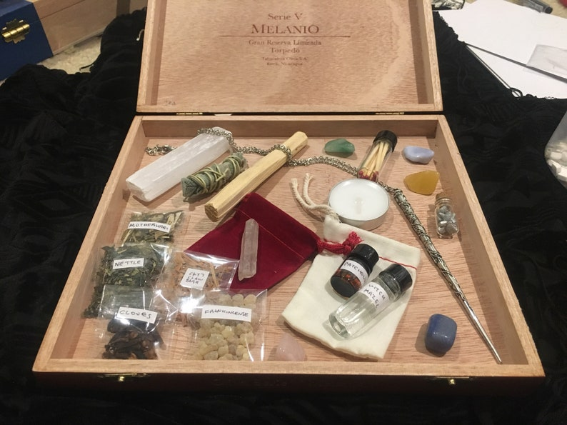 SECRETLY A WITCH kit  witch alter sets  wand kit  witch image 0