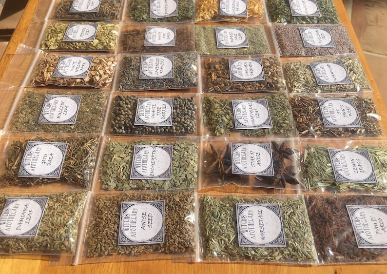 Potion bags  witch apothecary herbs  herbology  witchcraft image 0