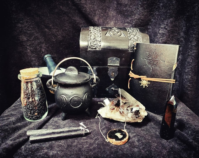 Dark Mysteries Witchcraft Kit ~ Wiccan Altar Kit ~ apothecary witch kit