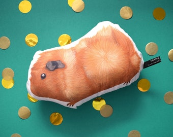 Guinea-pig soft toy - The Abyssinian - handmade plush