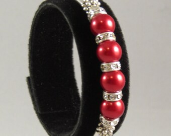 Red and Sparkly Bracelet