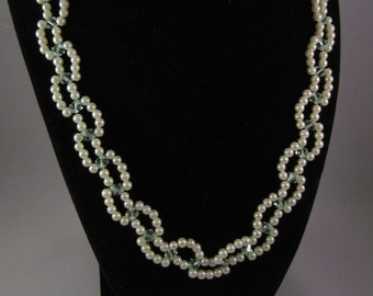 Peridot & Pearls Necklace