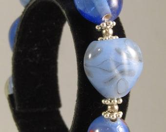 Chunky Blue Bracelet