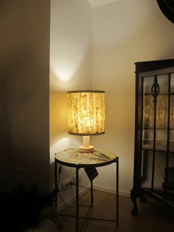 side table lamp, rice paper and bamboo lamp, reading lamp