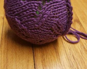 Newborn bonnet - knit bonnet - newborn photo prop - purple bonnet
