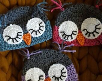 Sleeping Owl Hats