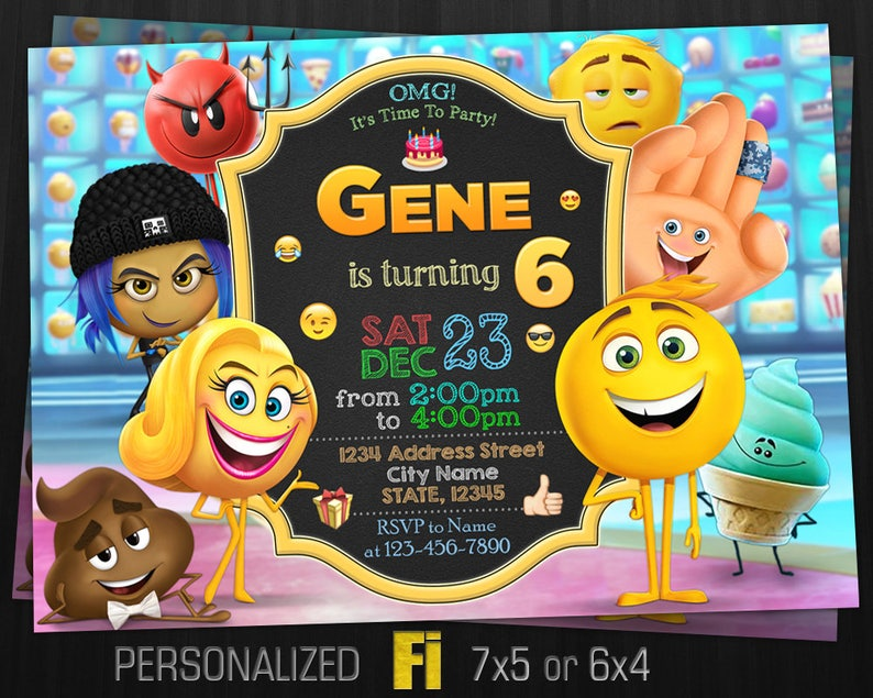 Emoji Invitation Movie Birthday