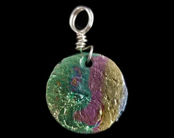 Bismuth Small Circle Pendant