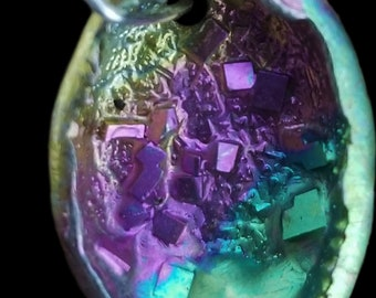 Bismuth Small Oval Pendant