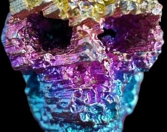 Bismuth Coral Skull