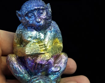 Bismuth Monkey with Baby