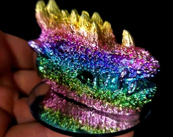 Bone Bismuth Dragon Skull
