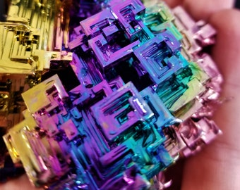 570 Gram High End Vivid Bismuth Crystal Cluster