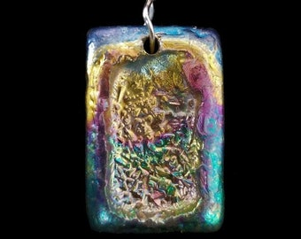Bismuth Small Rectangle Pendant