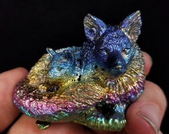 Bismuth Fox with Cub