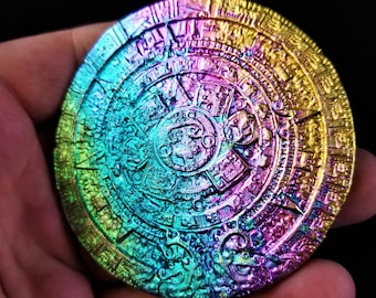 Bismuth Aztec Medallion