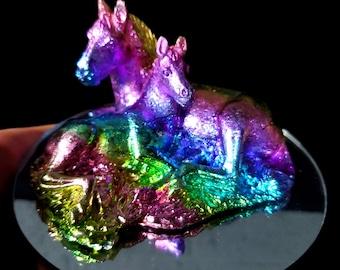 Bismuth Horse Pair