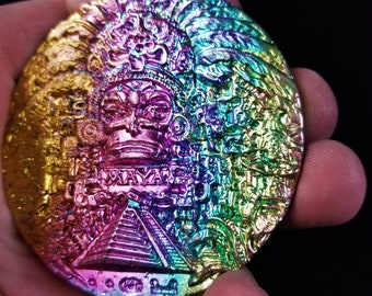 Bismuth Mayan Medallion