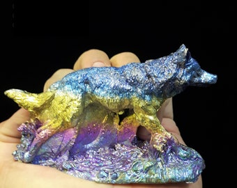 Bismuth Running Wolf