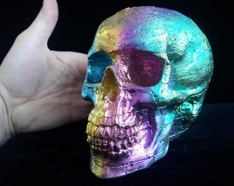 NEW Life Sized Bismuth Human Skull