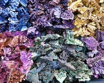 1 KG of Single Colored Bismuth Crystals Wholesale