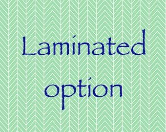 Laminated