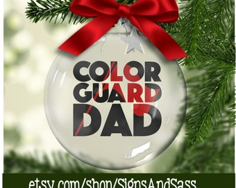 Color Guard Holiday Christmas Tree Ornament Red