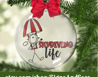 Skydiving ornament | Etsy