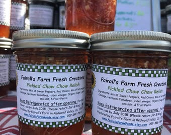 Sweet Pickle  Relish - Pickle Relish - Food Gift - Fairall's Farm - Unique Valentines Day Gift - Gifts under 10 -  Valentines Food Gift