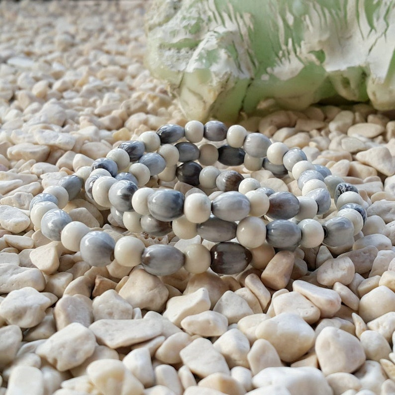 3 Strands Job\u2019s Tears /& Cow Bone Bracelets Coix Lacryma-jobi Seeds Yi Yi Ren