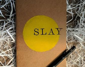 SLAY Handmade Journal, Handmade Diary, Kraft Notebook, Pop Culture, Stationery