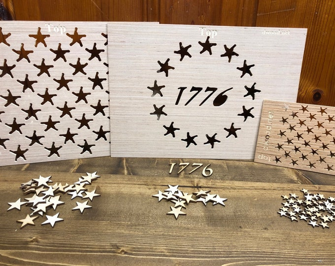 Betsy Ross 1776 Star Template , Wooden Flag Star Layout Template Jig