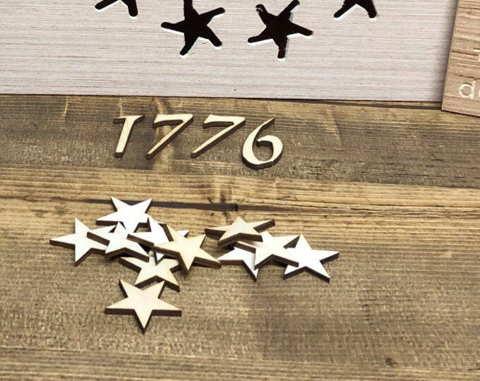 Betsy Ross 1776 stars and numbers, 1 1/4 inch, Flag Building , Confetti 1.25 inch