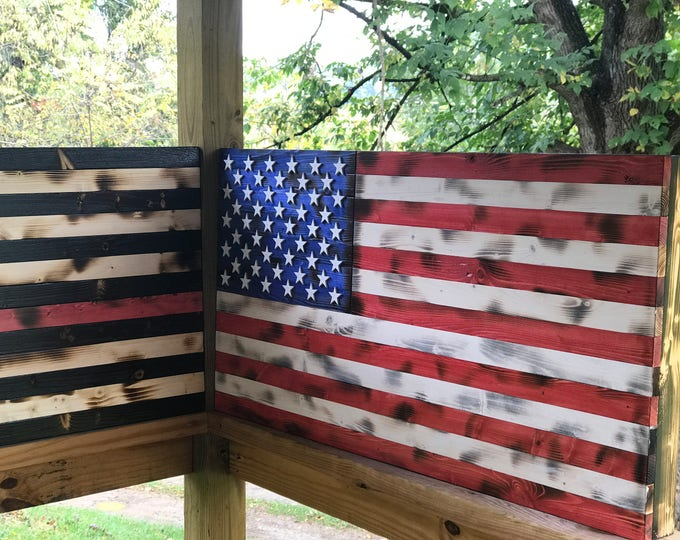 Torched/American Flag Build Plans / Rustic Decor