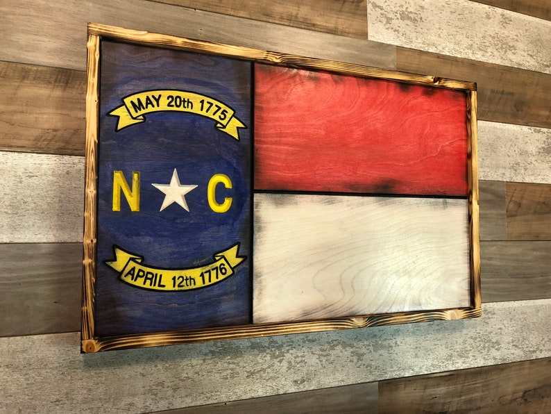 Nc Wooden Flag North Carolina Wood Flag Wall Art Wall Decor Rustic