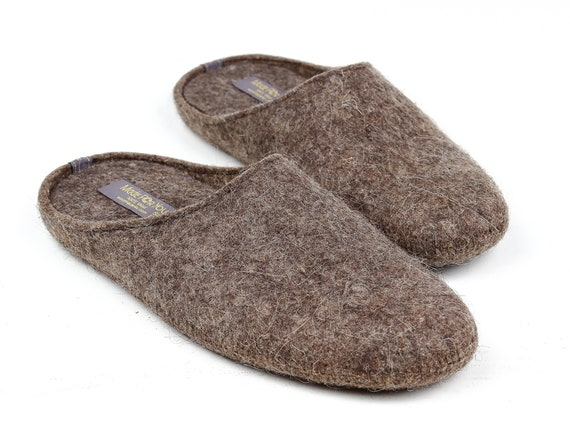 Boiled Wool Slippers with Arch Support